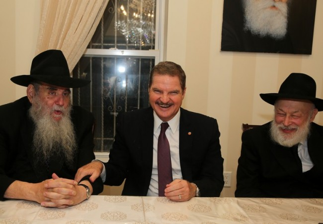 Aruban Prime Minister Visits Chabad HQ
