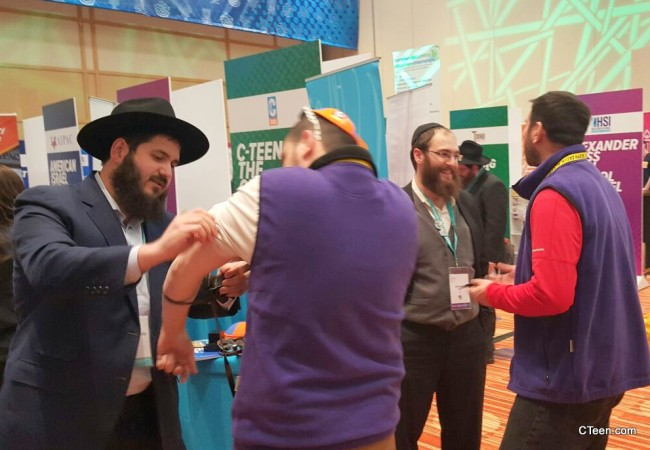 CTeen mitzvah booth at the BBYO International convention