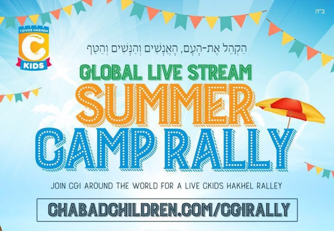Preparing for the Historical Chabad Summer Camp Event
