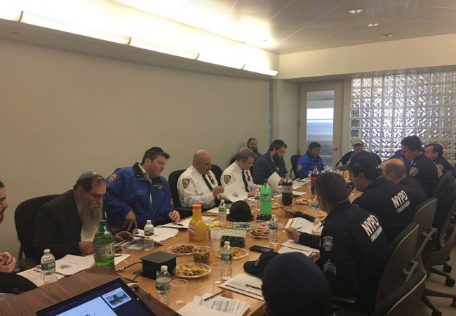NYPD Getting ready for the Kinus Hashluchim