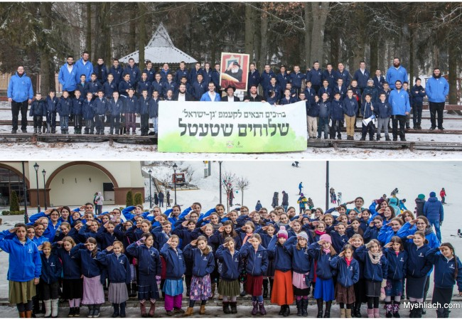 Shluchim Kids from Nine European Countries Enjoy Winter Camp