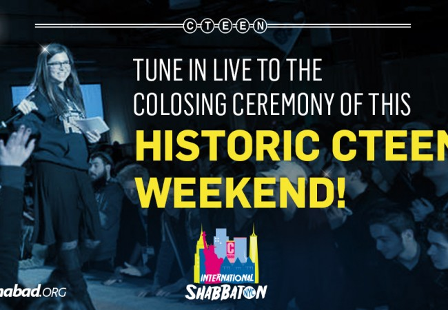CTeen Shabbaton Closing Ceremony LIVE