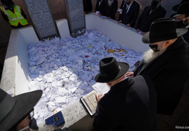 'Pan Kloli' Read at the Ohel