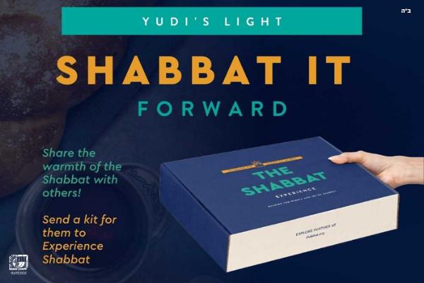 Shabbat-It-Forward in Honor of Rabbi Yudi Dukes
