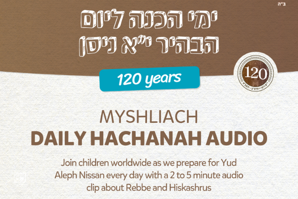 Listen: MyShliach Yud Alef Nissan Podcast