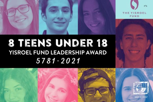 "8 Jewish Teen Leaders Recognized on International ""8 Under 18"" list"